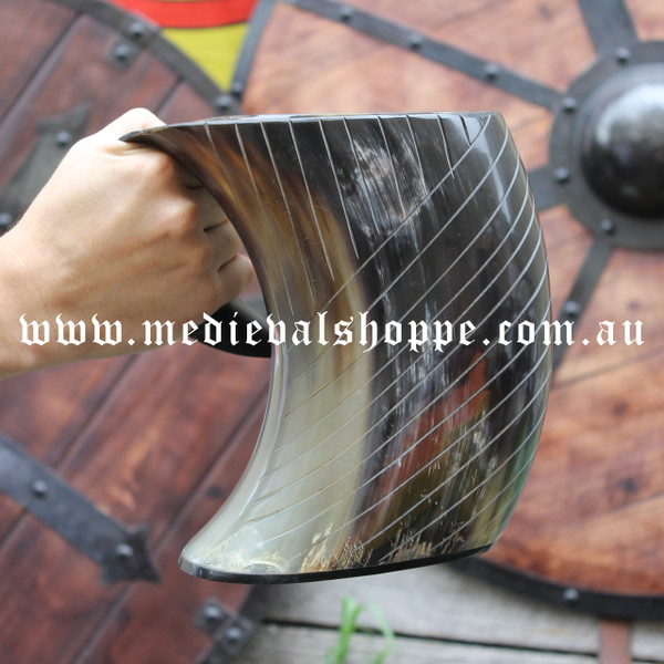 Cow Horn Cup With Handle