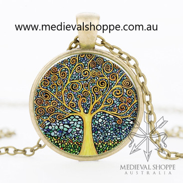 Tree of Life Glass Dome Penadant