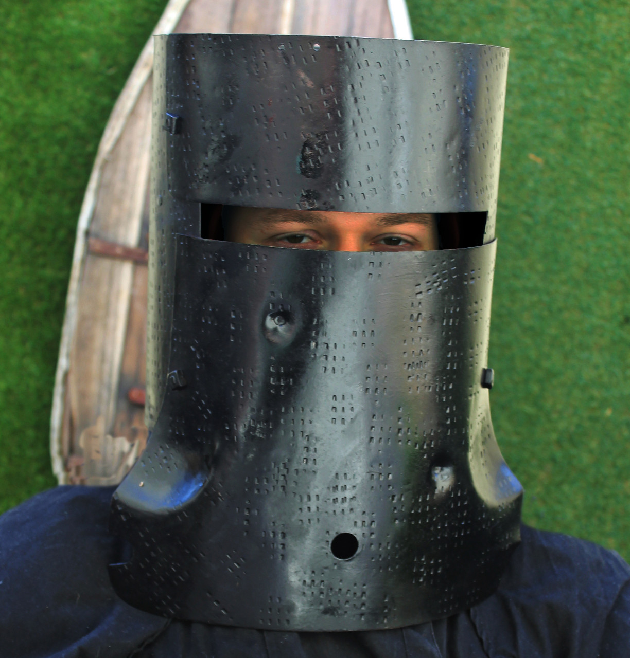 Wearable NED KELLY helmet