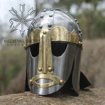 Miniature Anglo Saxon Helm With Stan