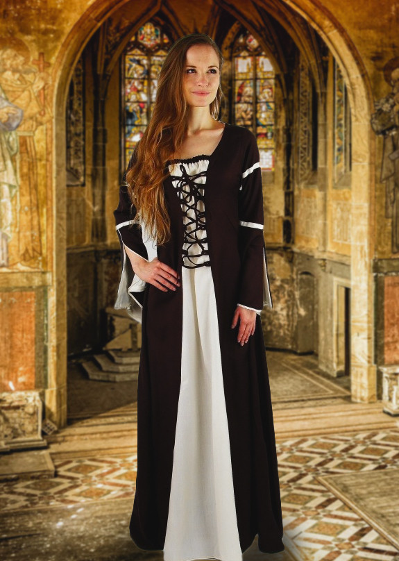 Black and White Medieval Dress