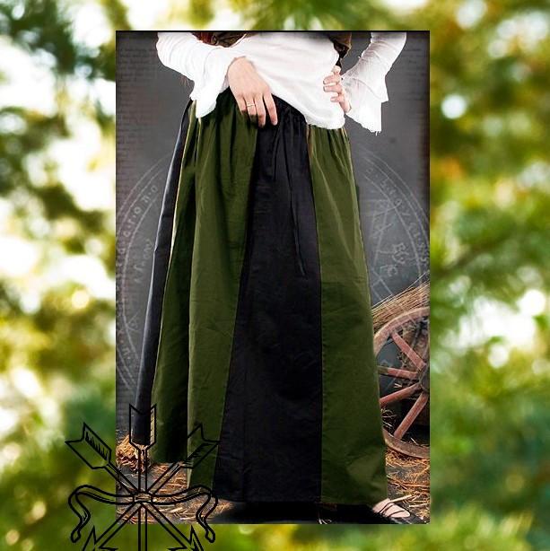 Green & Black Skirt