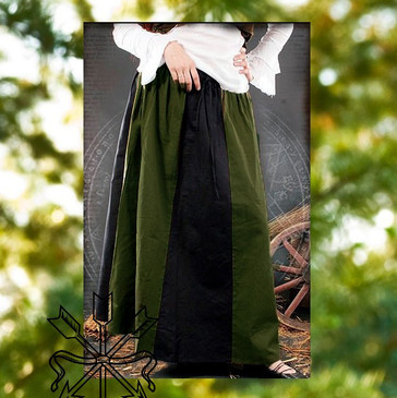 Green & Black Skirt