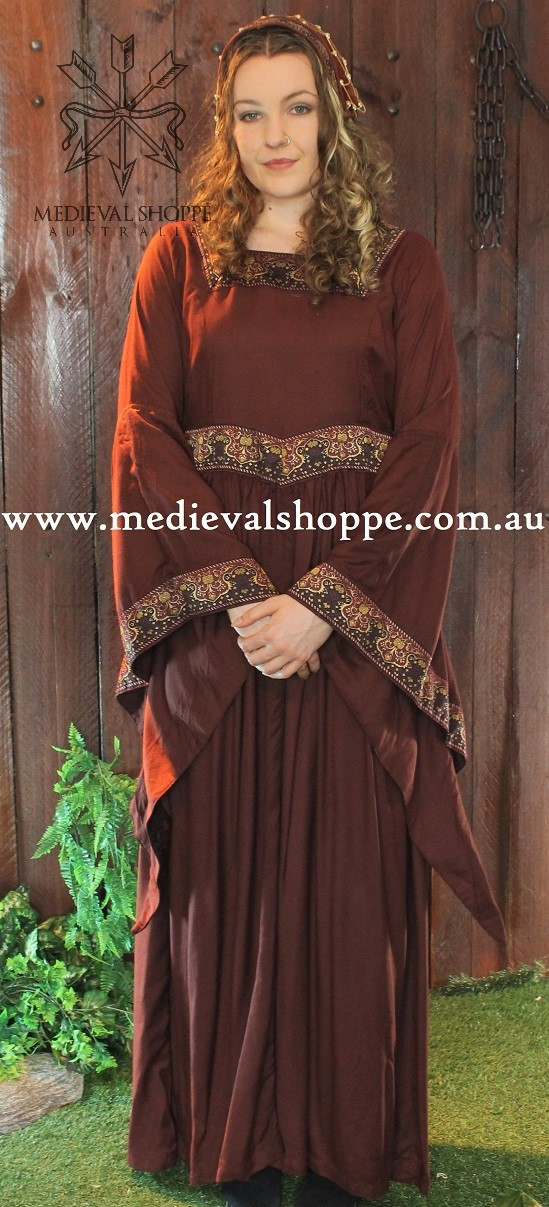 Maroon Medieval Dress
