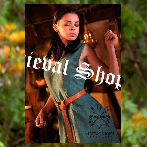 Teal Sleeveless Medieval Dress (Over Dress)