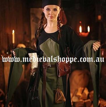 Black & Green Medieval Dress