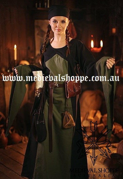 Black & Green Medieval Dress