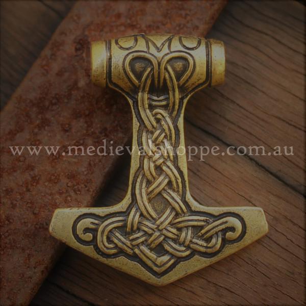 ronze Celtic Knotwork Thor Hammer (Mjöllnir)