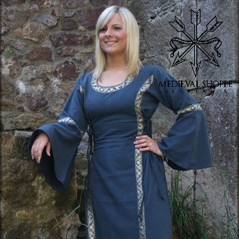 Blue Early Medieval Dress