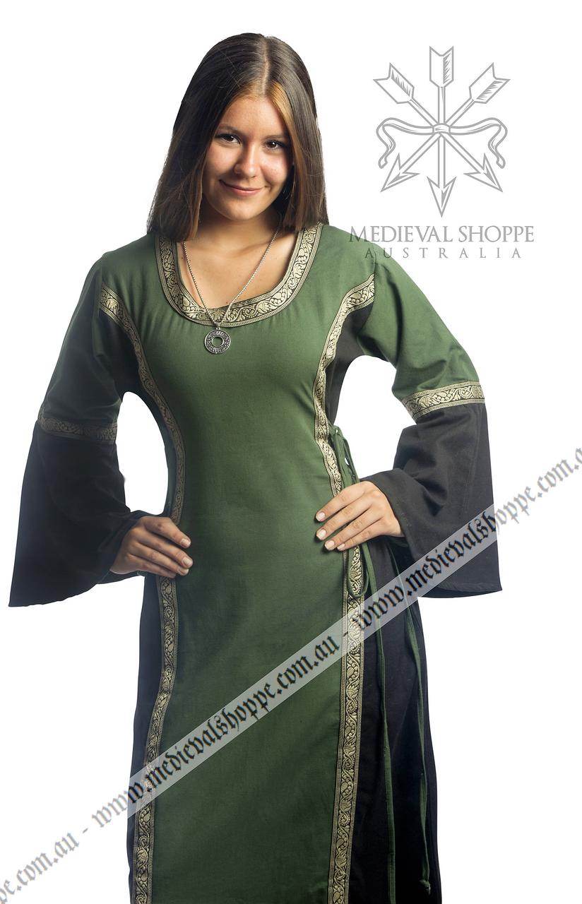 Green & Black Medieval Dress