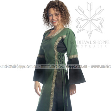 Green & Black Medieval Dress