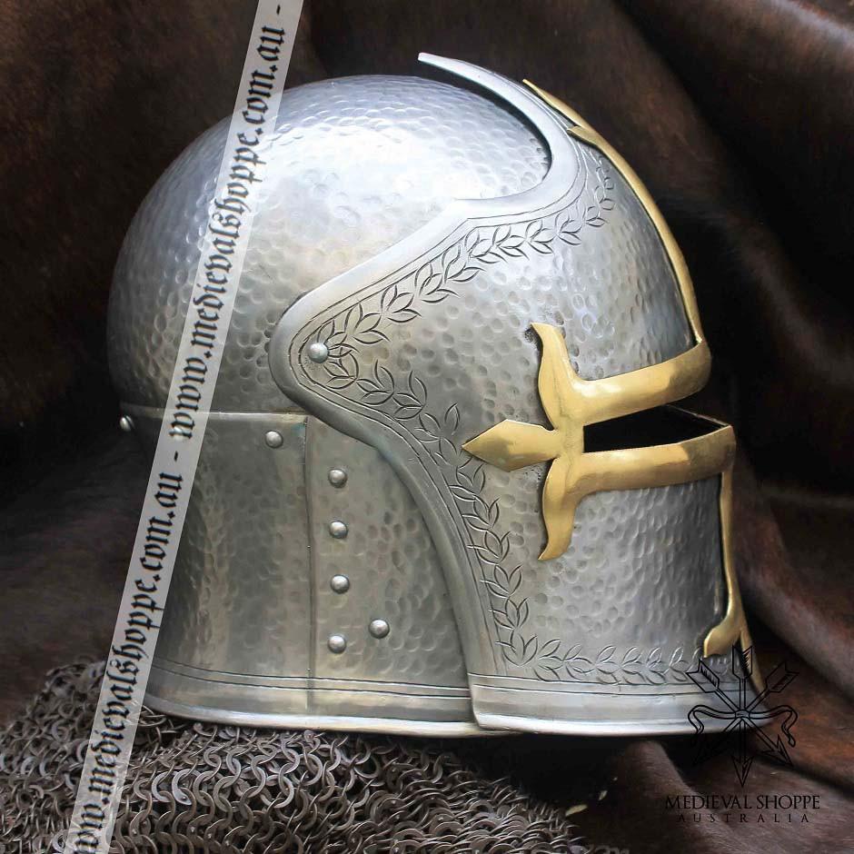 Medieval Visored Helm