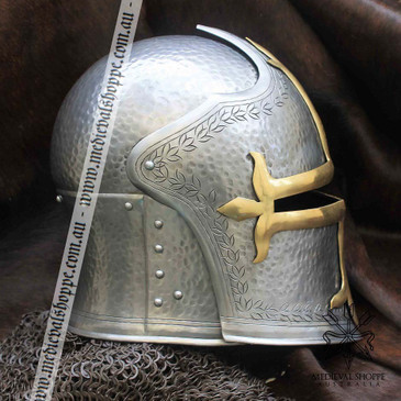 Medieval Visored Helm