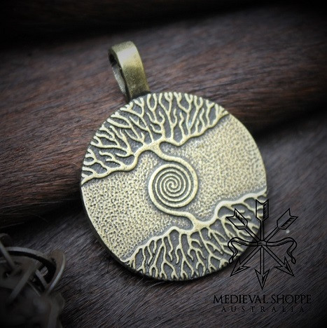 Tree of Life Celtic Spiral Pendant