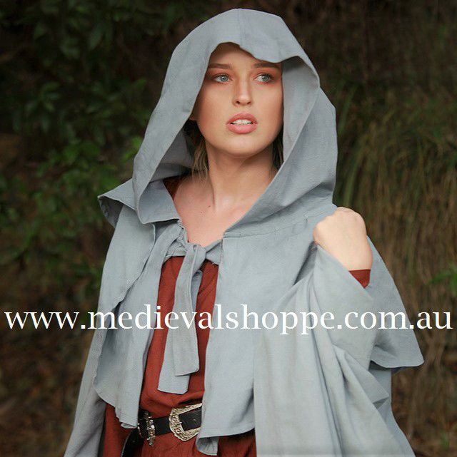 Extensive Hooded Cotton Cape (Various Colours)