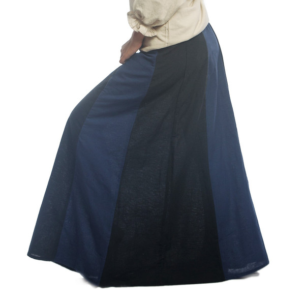 Blue & Black Skirt