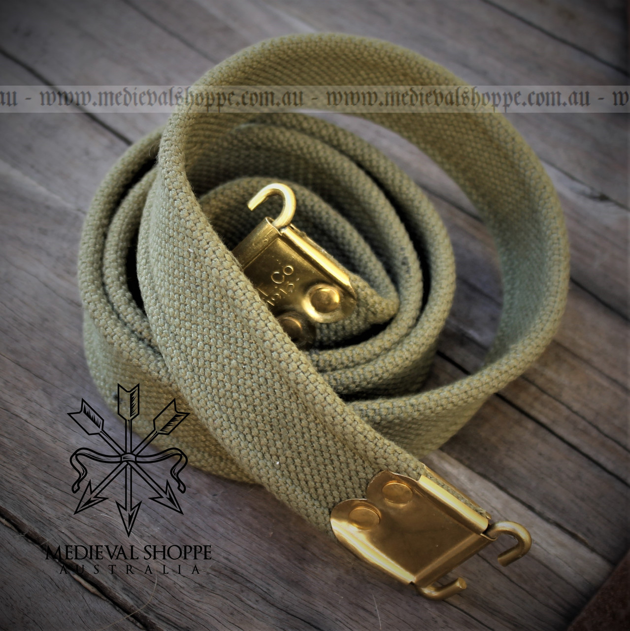 British Lee Enfield 1913 Rifle Sling (Reproduction) GREEN