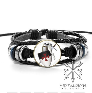 Knights Templar Shield Bracelet