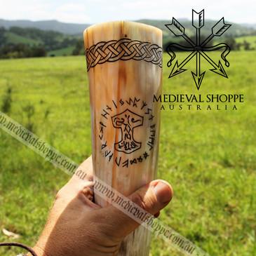 Viking Mjölnir Drinking Horn