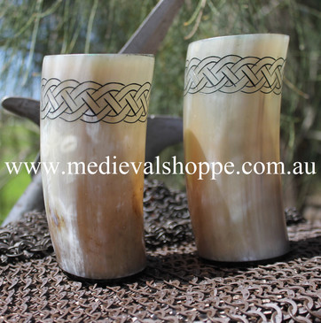 Celtic Cow Horn Cup (16 cm