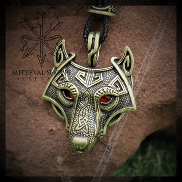 Vegvisir Pictish Wolf Pendant