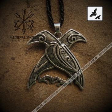 Huginn and Muninn Pendant (Odin's Ravens)