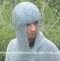 Stainless Steel Chain Mail Coif (Hood) Butted 10mm 16g
