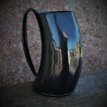 Raven Black Gigantic Cow Horn Tankard - Beer Mug (5)
