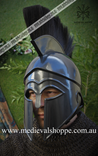 Black Corinthian Ancient Greek Helmet