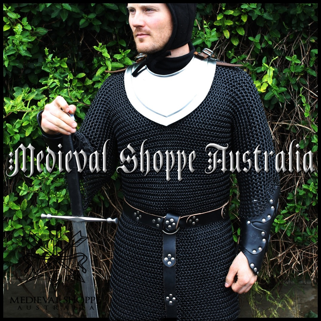 XXXLarge Black Chain Mail Half-Sleeved Shirt