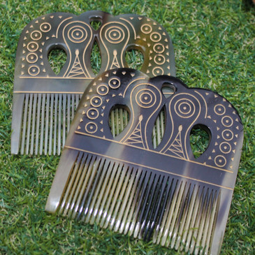 Viking Dragons Comb - Made from Cow Horn