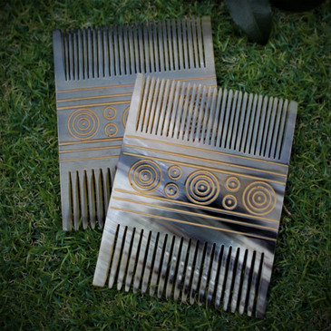 Viking Comb (2) - Made from Cow Horn