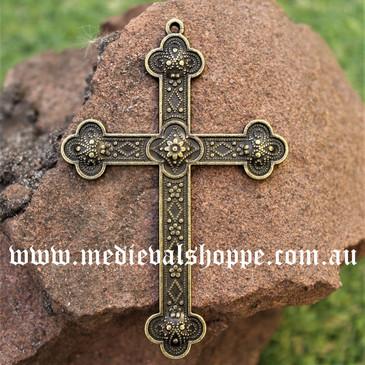 Large Bronze Tudor Cross
