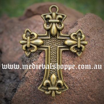 Fleur-De-Lis Cross Pendant