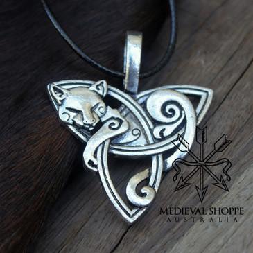 Celtic Cat Pendant (B)