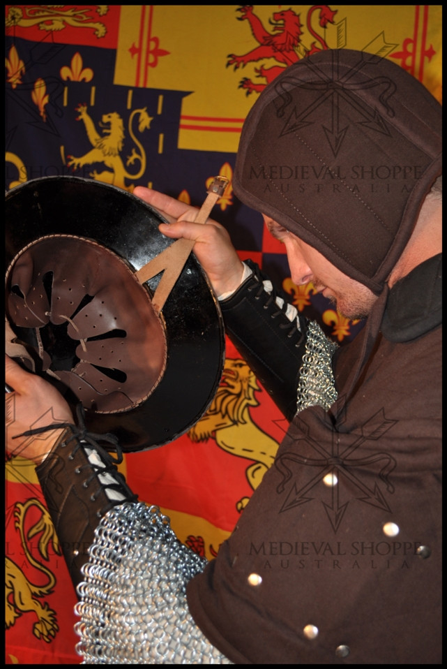 Brown Arming Cap - Medieval Padded Coif