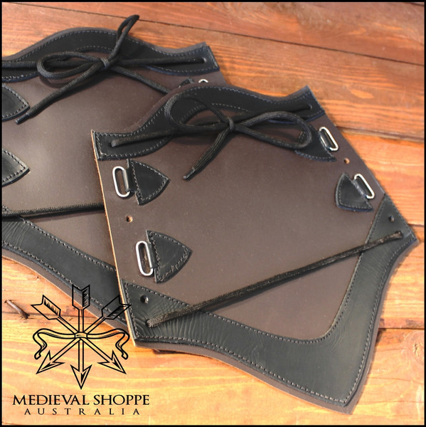 Leather Vambraces. Arm Armour. Forearm guards