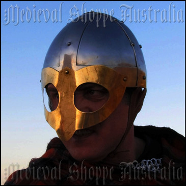 Vendel Period Brass Ocular Face Guard Helmet