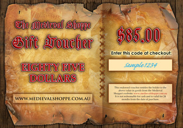 Medieval Shoppe $85 Gift Voucher