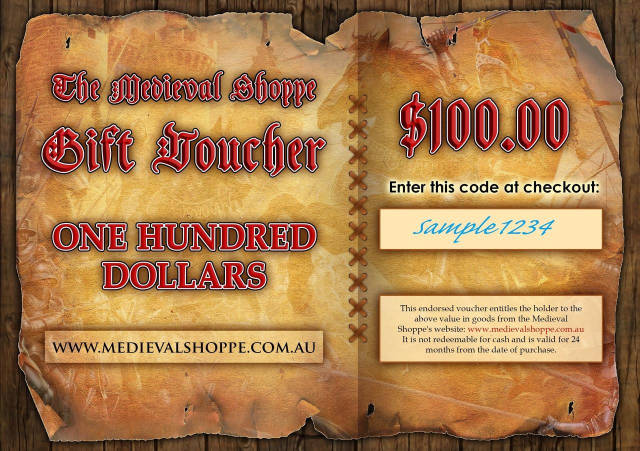 Medieval Shoppe $100 Gift Voucher