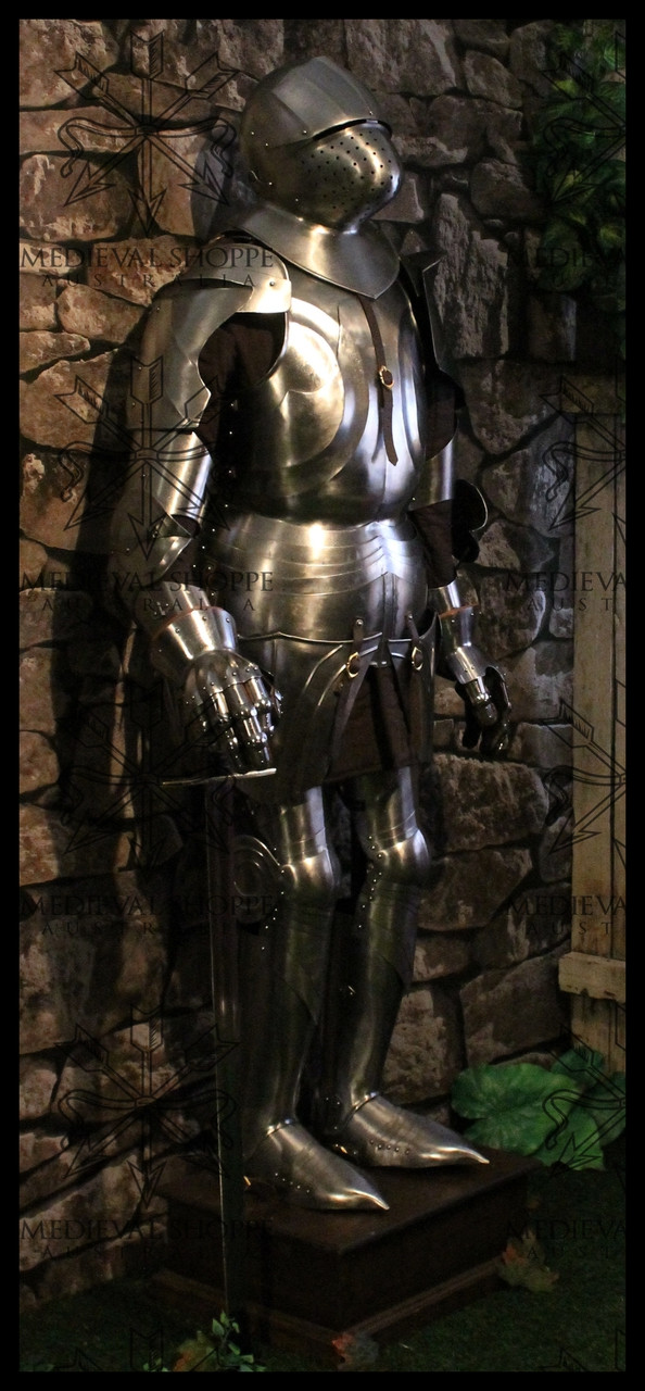 Full Size Suit of Armour with Plinth & Internal Display Frame