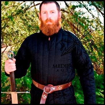 XL Black Classic Gambeson. Aketon. Jack. Medieval Padded Armour.