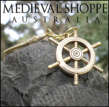 Ship Wheel Keychain - Keyring