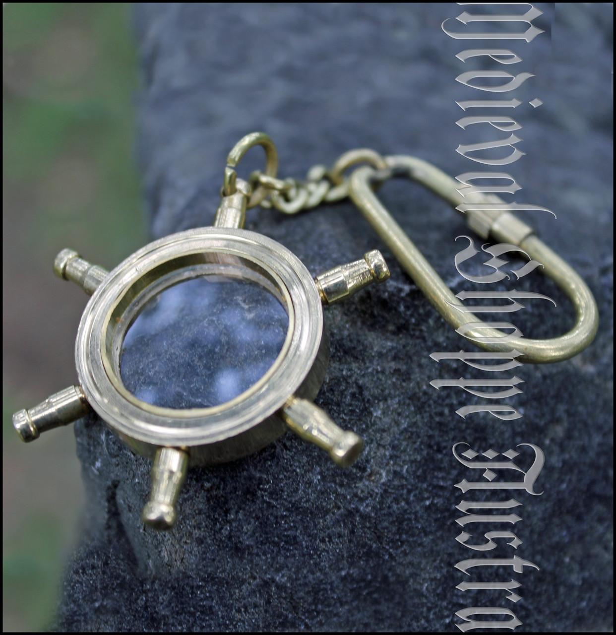 Ship's Wheel Magnifier Glass Key Chain