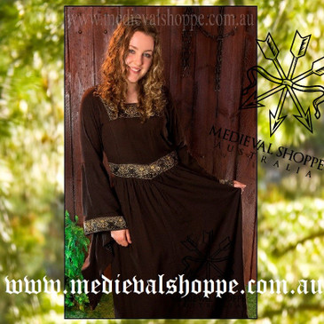 Brown Medieval Dress 2823