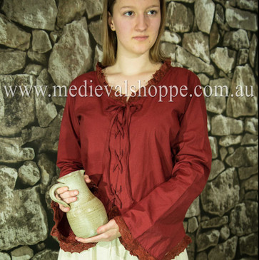17th or 18th Century Wench Blouse (Red)