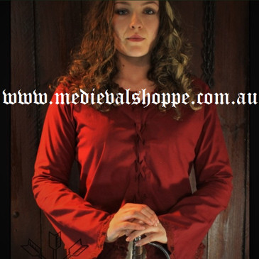 Red 18th Century Blouse