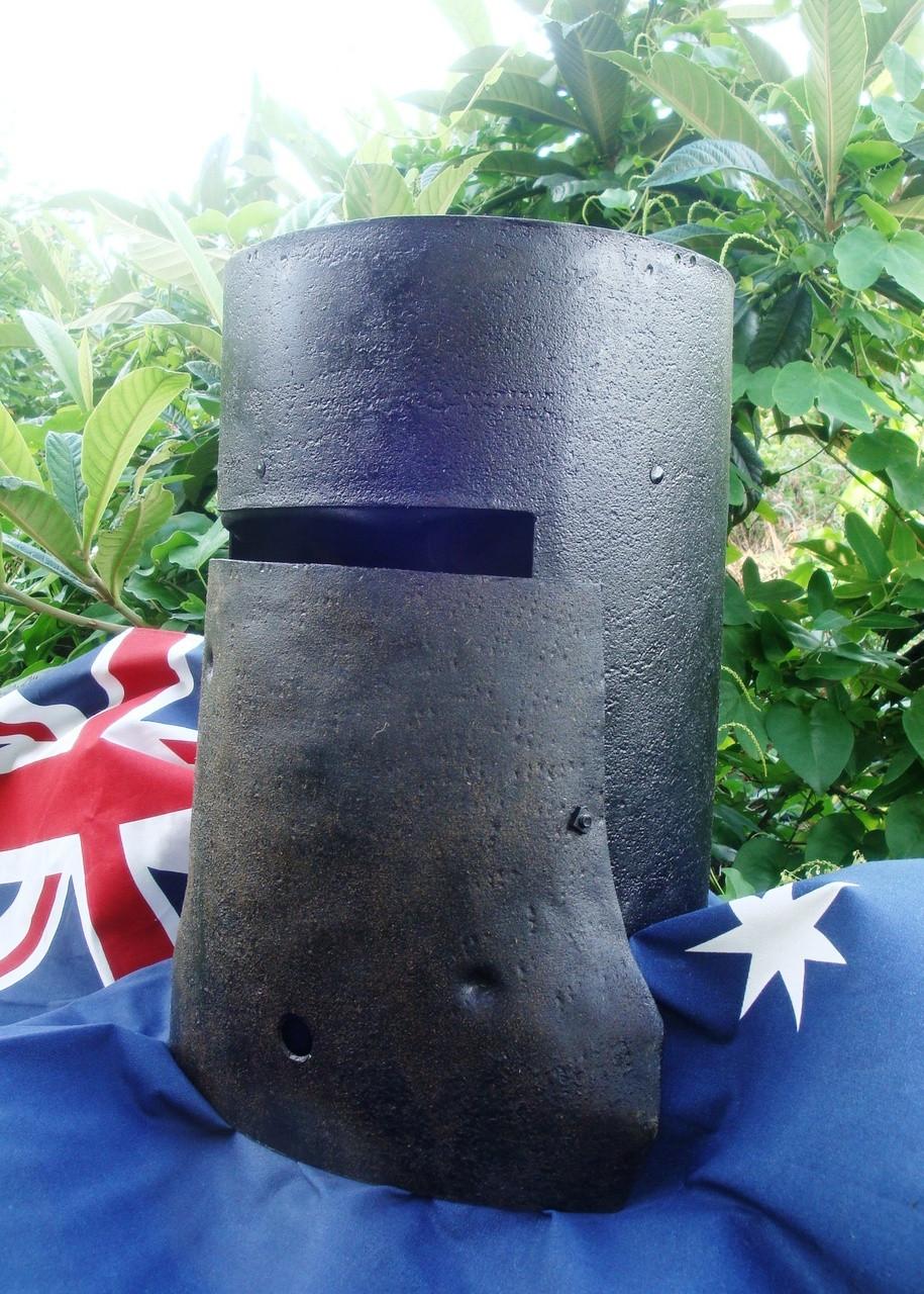 Wearable NED KELLY helmet