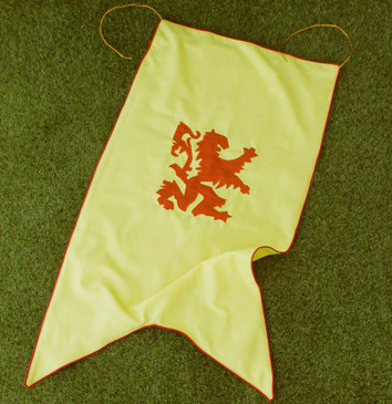 Heraldic Rampant Lion Banner (Swallowtail Gonfalon)