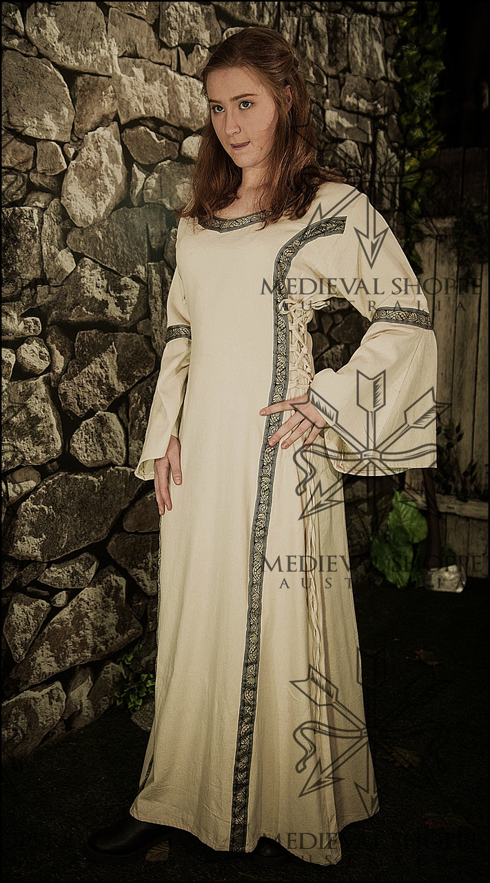 Early Medieval Dress (Linen Colour Cloth) - The Medieval Shoppe